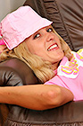 Nasty Horny Brooke Gets Naked On A Sofa And Teases Her Hairy Pussy. - Picture 1